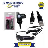 Carregador Iphone 5 E 6 E V8 Universal Para Carro 3 Em 1 Usb