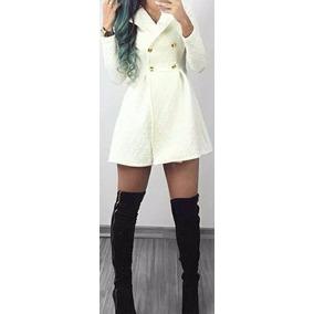 Sobretudo Feminino/casaco/jaqueta Outono Inverno/botão