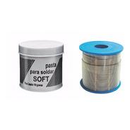 Rolo Carretel Solda Estanho Soft 500g 60x40 Eletr. + Pasta