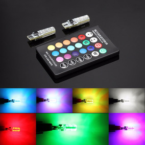 Kit Led T10 Pellizco Colores A Control Remoto Y Multifuncion