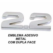 Emblema Adesivo Metal 2.2 Cromado Vectra Omega Mustang Audi