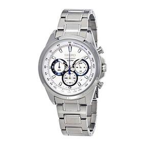 Reloj Seiko Unisex Neo Sport Chronograph Acero Blanco Ssb23