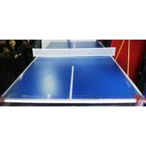 Tapa De Ping Pong P/ Pool De 2.40 X 1.40 Melamina 18mm C/red