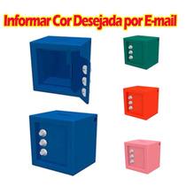 Mini Cofre Porta Moedas Com Segredo Numeração Metal Cores