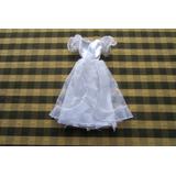 Vestido De Fiesta Para Barbie, Color Blanco, Con Tul, Confec