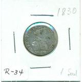 Una De Las Primeras Monedas De Bolivia Un Sueldo De 1830