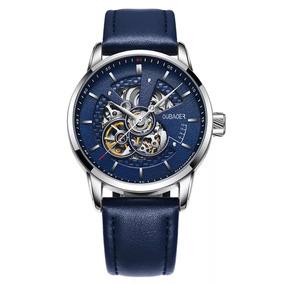 Relógio Oubaoer Automático Masculino Luxo. Vidro Safira