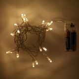 iluminacion luz led blanca calida pilas arbol navidad fiesta