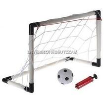 Mini Cancha De Futbol 2 En 1 Porteria Meta +pelota +inflador