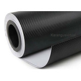 Adesivo 3d Fibra De Carbono Moldavel Texturizado 1,36m X50cm