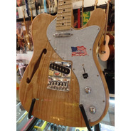 Guitarra Telecaster Thinline Sx Ftl/h Natural Semihollow Ash