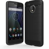 Estuche Motorola Moto G5s Plus Textura Fibra Carbono
