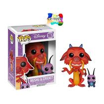 Mushu Y Cricket Dragon Funko Pop Pelicula Mulan Disney Cf