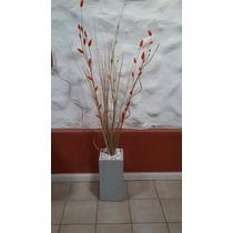 Maceta Cuadros Cortina Cuadrada 30cm Arreglo Floral Decorar