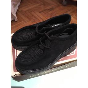 Zapatos Nena Gamuza Talle 24 Y Talle 28 Negros Cheeky