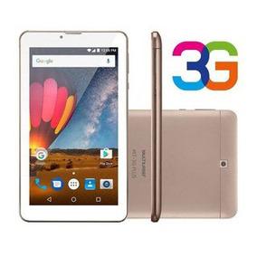 Tablet 7 3g Wifi Dual Chip Câmera Multilaser M7 Plus Dourado