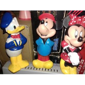 Lote De Bonecos Mickey Minnie E Pato Donald