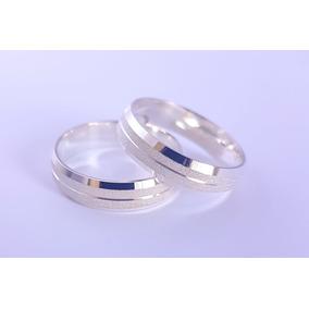 a0223bb32de Aliança De Prata Diamantada 4mm ( Par ) - Alianças no Mercado Livre ...