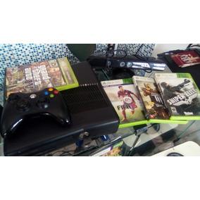 Vendo Xbox 360 Na Caixa Com Jogos
