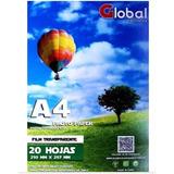 Papel Film A4 Transparente Acetato Sticker 120 Gr X 20 Hojas