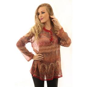 Bata Maia Indiana Camelo Vermelho E Laranja Roupa Moda