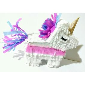 10 Mini Piñatas Mexicanas Unicornio Souvenir Deco Candybar!!