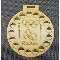 Porta Moedas Olimpíadas Rio 2016 Em Forma Medalha Mdf
