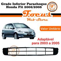 Grade Inferior Parachoque Honda Fit 2006 2007 2008