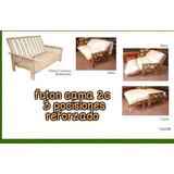 Futon 2c Cama + Colchon Ecocuero (nvo) Somos Fabricantes!!