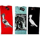 Kit Camisetas Masculina Camisa Blusa 10 Peças Multimarcas
