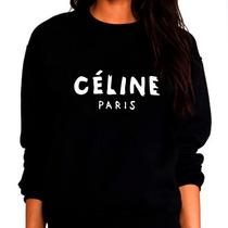Sweater Celine Sueter Celine Sin Capucha Para Dama Algodón