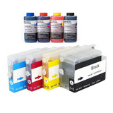 Kit 4 Cartuchos Recargable 711 Plotter T120 T520 Lleno 240ml