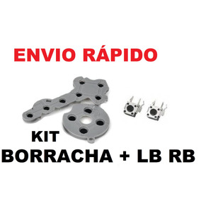 Reparo Controle Xbox 360 Borracha Botão Silicone + Lb Rb Kit