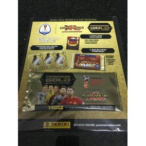 Cards Premium Gold Copa Rússia 2018 Um Envelope