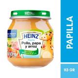 Papilla Pollo, Papa Y Arroz Frasco Vidrio 113 G Heinz