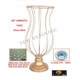 2 Vasos 60cm - Kit Montagem - Armação Pedrarias - Pérolas