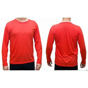 Camisetas Manga Longa Plus Size G1 G2 100% Poliéster