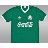 Camiseta Retrô Palmeiras Coca-cola Verde - Envio Imediato