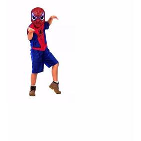 Fantasia Infantil Homem Aranha 1 A 6 Anos Mascara
