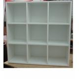 Biblioteca 9 Cubos-30x30x30 - Melamina Masisa - Fondo Blanco