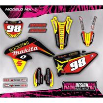Kit Calcos - Gráfica Suzuki Rmz 250 - 2009/16 - Gruesos!!!