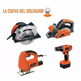 Combo216 Taladro12 Cepillo Caladora400w Sierra Circ Lacueva