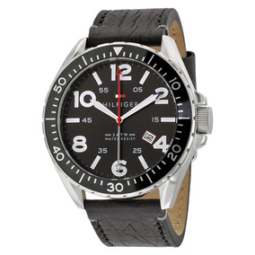 Reloj Tommy Hilfiger 1791131 Black Dial Leather Envio Gratis