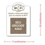 Placa Wi-fi Com Qr Code Em Mdf 3mm - 15x20cm