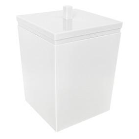 Lixeira Para Banheiro Quadrada Branco