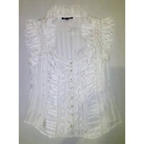 Blusa Para Dama Color Blanco Perlado Sin Mangas