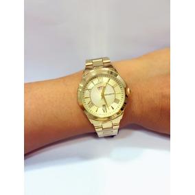 Relógio Feminino Dourado Original Marca Atlantis Mulher Gold