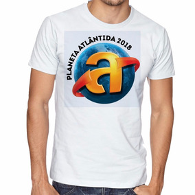 Camiseta Planeta Atlantida 2018 Manga Curta Tamanho