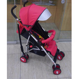 Coche Baston De Aluminio Baby World Rojo