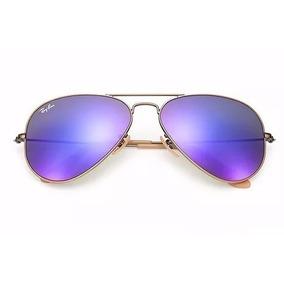 3add732865359 Óculos De Sol Ray Ban 2017 Dourado E Branco Lente Azul - Óculos De ...